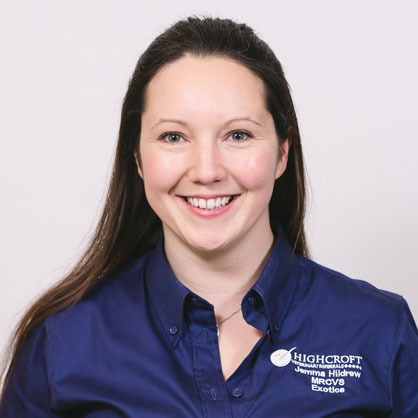 Jemma Hildrew, vet at Highcroft Veterinary Group