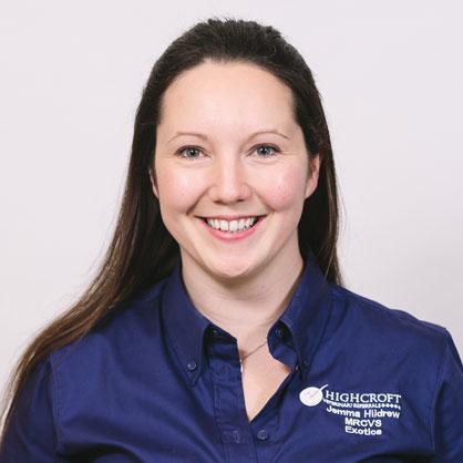 Jemma Hildrew, vet at Highcroft Veterinary Group